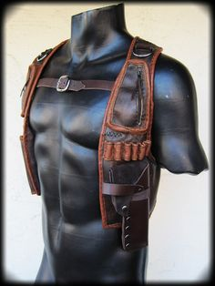 Leather Gun Holster with Pouches by ahniradvanyi on Etsy, $255.00
