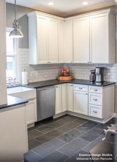 Millse Kitchen Remodel. Slate flooring, soapstone counter tops ... on