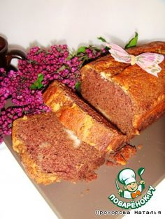 Шоколадный кекс с хрустящей творожной корочкой - кулинарный рецепт