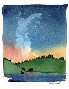 A personal favorite from my Etsy shop https://www.etsy.com/listing/233071872/night-sky-galaxy-archival-print-on