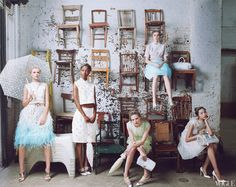 Louis Vuitton Collection in Vogue January 2012. Photographed by Annie Leibovitz