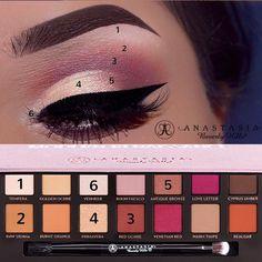 Pink Smokey eye with palette