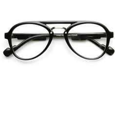 1f619be840 Dapper Hipster Indie Vintage Inspired Clear Lens Aviator Glasses 9397 ( 27)  ❤ liked on
