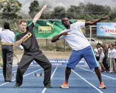 Prince Harry Challenges Olympic Champion Usain Bolt to a Race for Fun