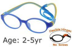 bcc2e0ad80  3-6 yrs  Kids Glasses - Flexible TR5001C006 Dark Blue Blue 45 Size +  Removable Strap   Ear Hook