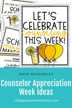 Discover recipes, home ideas, style inspiration and other ideas to try. National School Counseling Week, School Counseling Office, School Counselor, Character Education Lessons, Education Quotes, Counseling Activities, Educational Leadership, Educational Technology, Appreciation Gifts
