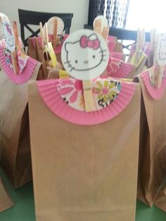 Hello Kitty Party...Cupcake liners as a doilies.