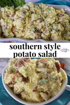 this potato salad recipe is loaded with boiled eggs, celery, bacon and topped off with some sriracha! delicious summer side dish recipe that you need at all your summer bbqs! # recipes for dinner Best Ever Potato Salad, Best Potato Salad Recipe, Easy Salad Recipes, Side Dish Recipes, Potluck Recipes, Red Potato Recipes, Dinner Recipes, Roasted Potato Salads, Creamy Potato Salad