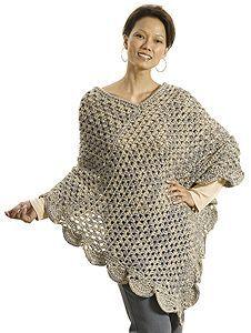 Granny poncho - free pattern.