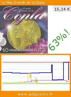 Lo Mas Grande de la Copla (CD). Réduction de 63%! Prix actuel 15,14 €, l'ancien prix était de 40,64 €. https://www.adquisitio.fr/emi-music-spain-slu/lo-mas-grande-copla