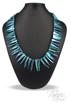 TRIBAL COLLECTION - Lagoon Blue Mother-of-Pearl Necklace