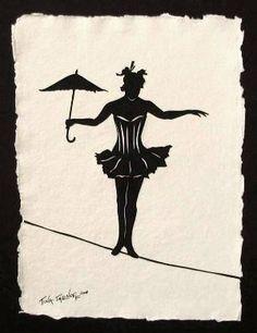 Pensar otro diseño de equilibrista Handmade paper cut art