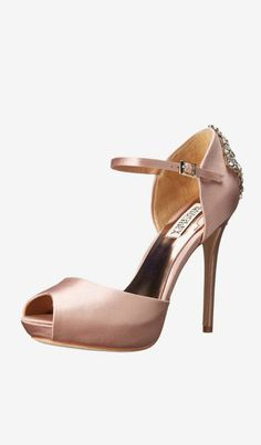 Badgley Mischka Gene Damen US 10 Rosa Mary Janes for sale Dream Shoes, Crazy Shoes, Me Too Shoes, Pump Shoes, Shoe Boots, Shoes Heels, Pretty Shoes, Beautiful Shoes, Mode Rose