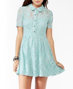 Embroidered Lace Shirtdress | FOREVER21 - 2025100888    This dress legit... want it tho...