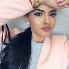 pinterest: @ biancaemb eyes and lips are gorgeous but not her eyebrows too thick for my taste