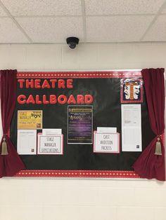 Theatre callboard Drama Teacher, Drama Class, Drama Drama, Gcse Drama, Art Classroom Decor, Classroom Organization, Classroom Ideas, High School Classroom, Future Classroom