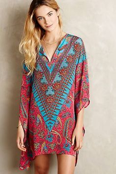 New arrivals -- Avati Silk caftan Boho Chic, Bohemian Mode, Bohemian Style, Boho Fashion, Fashion Dresses, Women's Dresses, 2015 Dresses, Bohemian Schick, Anthropologie Clothing