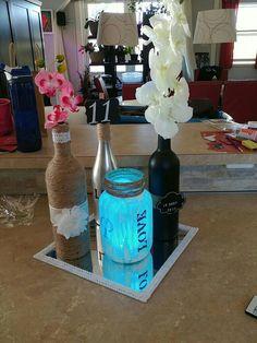 Glass Vase, Bottle, Home Decor, Homemade Home Decor, Flask, Decoration Home, Jars, Interior Decorating
