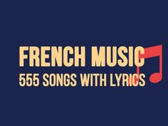 more than 555 songs hours 30 minutes) with lyrics. + The lyrics are synchronized with the songs. Like a karaoke!Listen more than 555 songs hours 30 minutes) with lyrics. + The lyrics are synchronized with the songs. Like a karaoke! French Language Lessons, French Language Learning, Learn A New Language, French Lessons, Foreign Language, Spanish Lessons, Spanish Language, German Language, French Tips