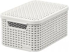 Košík Curver® STYLE2 LID S, krémový, 29x20x14 cm, s vekom Plastic Laundry Basket, Rattan, Home Appliances, Organization, Box, Modern, Home Decor, Beige, Bedroom