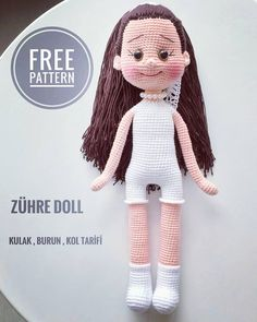 All amigurumi models are on this site.Amigurumi doll models are waiting for you on our site. Doll Amigurumi Free Pattern, Crochet Dolls Free Patterns, Crochet Doll Pattern, Amigurumi Doll, Doll Patterns, Red Pattern, Diy Crochet, Crochet Baby, Love Knitting