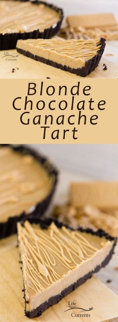No-Bake Blonde Chocolate Ganache Tart is rich and creamy, elegant, and easy to make. No baking required. #ad #madeinfrance