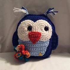 Hootie Hoot the Blue Owl - Free Crochet Pattern by @lisakingsley4 | Featured at Lisa Kingsley Designs - Sponsor Spotlight Round Up via @beckastreasures | #fallintochristmas2016 #crochetcontest #spotlight #crochet #roundup