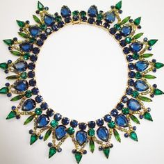 Fabulous Juliana Blue & Green Bib Collar Necklace from Jewelicious on Ruby Lane
