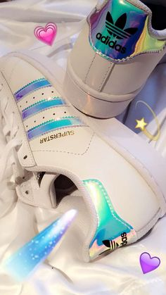 Adidas superstar originals holographic lenticular iridescent size 4 trainers shoes