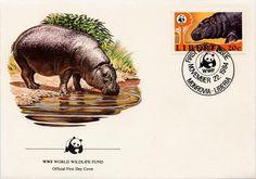 Pygmy Hippo Stamp Set
