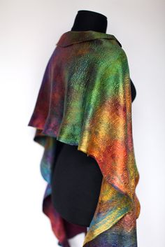 "Felted Cobweb Wrap Scarf | Flickr - Photo Sharing! So ""glossamer"""