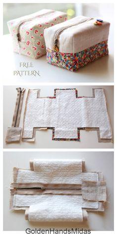 Bag Patterns To Sew, Sewing Patterns Free, Free Sewing, Fabric Patterns, Fabric Crafts, Sewing Crafts, Sewing Projects, Fabric Art, Diy Gifts Sewing