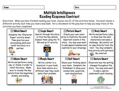 Reading Response Contract for Multiple Intelligences by Melanie Redden.  This product covers the 2nd grade CCSS for Literature, but could also be used in 3rd grade. $
