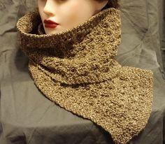 Beige Silk Wool Blend Scarf by BeachBumKnits on Etsy