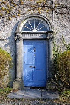 Items similar to Blue Door-County Laois, Ireland on Etsy