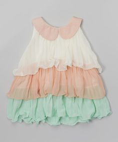 Loving this Pink & Mint Tulle Tier Dress - Infant, Toddler & Girls on #zulily! #zulilyfinds