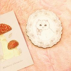 Mulberry Chronicles brooch arrived! :D #mulberrychronicles #royallibrary #chiffonrose #lolitafashion #otomefashion