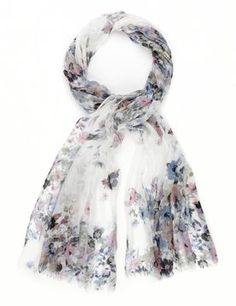 Marks and Spencer Lightweight Panel Floral Scarf