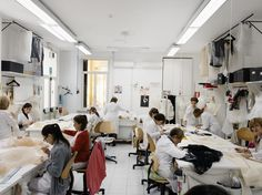 ITALY. Rome. 2012. Valentino atelier. A team of seamstresses.