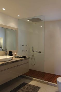 #shower room #Recessed glass #marble