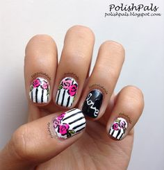 Polish Pals: Flowers & Stripes