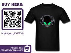 #Tshirt #DJ #Music #Alien #AlienDJ #Extraterrestrial #GREYALIEN #UFO