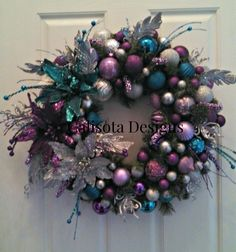 I created this wreath for one of my daughters to match her Christmas tree.