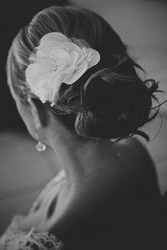 an elegant wedding updo