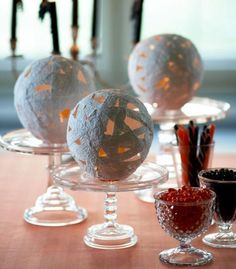 How to make a spooky tabletop display: http://www.midwestliving.com/homes/seasonal-decorating/easy-fall-decorating-projects/page/24/0