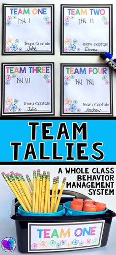 Team Tallies is a whole class behavior management system that focuses on positive behaviors and teamwork. Simple to implement and extremely EFFECTIVE! Behavior Management System, Content Management System, Classroom Management Strategies, Positive Behavior Management, Adhd Strategies, Positive Discipline, 4th Grade Discipline, Behavior Contract, Effective Classroom Management