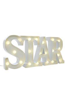Primark - Star Home Light Cool Room Decor, Bedroom Decor, My New Room, My Room, Primark Home, Rose Gold Marble, Kids Makeup, Cute Bedroom Ideas, Marquee Lights