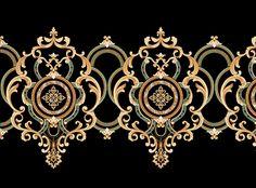 Baroque Design, Baroque Pattern, Border Pattern, Border Design, Victorian Curtains, Custom Paint Motorcycle, Rose Flower Wallpaper, Ornament Drawing, Africa Art