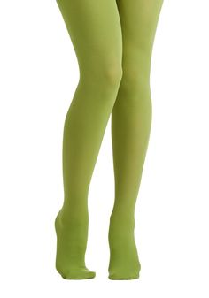 Tights for Every Occasion in Pear. Searching for that special shade of tights for your upcoming event? #green #modcloth