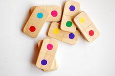 Wood Matching Game  EcoFriendly Domino Set 25 by SmallLifeStudio, $35.00